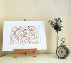 Curly Lines 4 - Original Abstract Ink Painting - NOT A PRINT