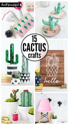 Easy DIY Cactus Crafts – Fun, Trendy, and Stylish Cacti DIYs and crafts for all skill levels! Easy DIY Cactus Crafts – Fun, Trendy, and Stylish Cacti DIYs and crafts for all skill levels! Decoration Cactus, Cactus Craft, Cactus Diys, Cactus Cactus, Cactus Flower, Kids Crafts, Diy Crafts For Kids, Diy Room Decor For Teens Easy, Kids Diy