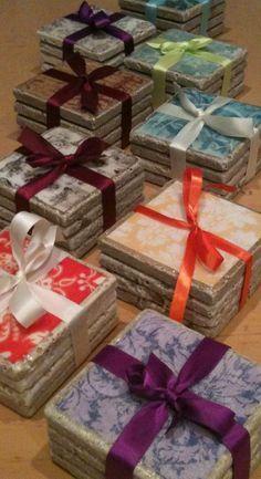 Impressive & Inexpensive DIY tile coasters