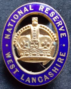 WW I National Reserve lapel badge, West Lancashire. in Collectables, Militaria, World War I (1914-1918) | eBay