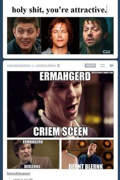 Derpy Superwholock ||| Supernatural + Sherlock + Doctor Who Hahahaha. Haha. Ha. Hahahahaha :) haha