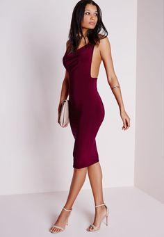 Shop new dresses range from summer dress to maxi dresses & going out dress, we've got you covered with our latest drop of women's dresses. Burgundy Midi Dress, Missguided, Cowl, Party Dress, Cold Shoulder Dress, Bodycon Dress, Midi Dresses, Beauty, Fashion