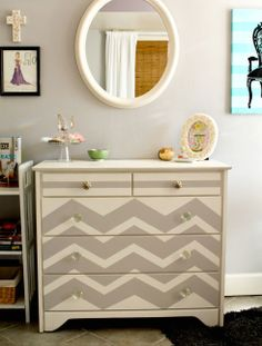 re-design your current furniture with only paint.