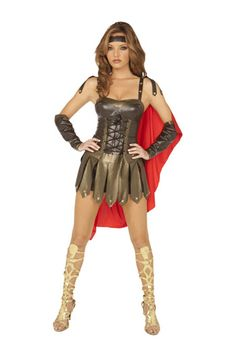 This stunning Sexy Spartan Costume from Elegant Moments includes dress with lace up front attached cape gloves and head piece. Perfect for Halloween and ...  sc 1 st  Pinterest & 29 best Greek Costumes images on Pinterest | Greek costumes Adult ...