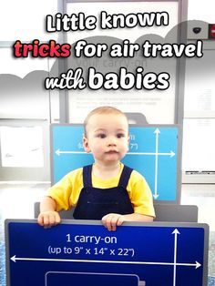 Everything you need to know about air travel with infants and/or toddlers!