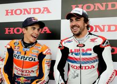 MotoGP-Vídeo: Fernando Alonso e Marc Márquez testam RC213V