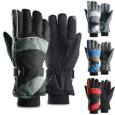 afd00c53f Waterproof Keep Warm Thermal Ski Skiing Snow Snowboarding Gloves Thinsulate  #fashion #clothing