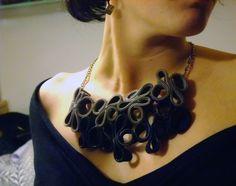 DIY- noxcreare: Zipper necklace-collana di cerniere