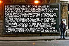 Street poetry billboard by Robert Montgomery