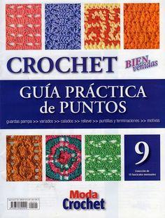 Revistas de manualidades Gratis: Revista Guía práctica de puntos en crochet 9