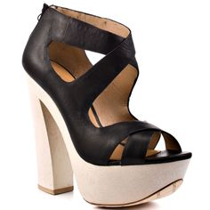 L.A.M.B.'s Multi-Color Minny - Black Leather for 274.99 direct from heels.com