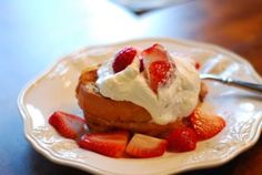 Strawberry and cream cheese French toast.