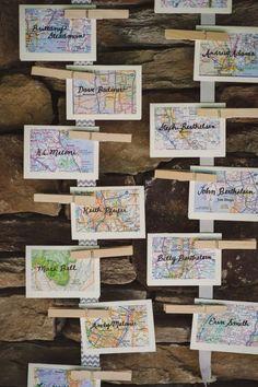 Decoración con mapas