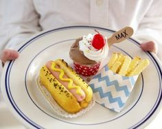 Cute mini diner treats made from cake- tutorial