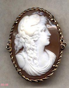 Cameo Brooch of HERCULES with Lion Pelt 14k   ITEM NO by Cleoras,     SOLD