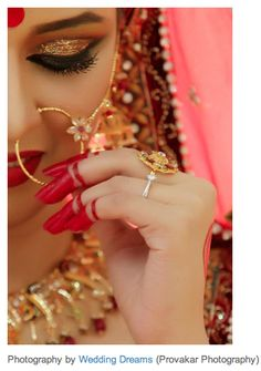 Bengali bride with red teep and alta #Bangladesh wedding