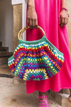 Ga zelf aan de slag (it's fun! Crochet Quilt, Crochet Art, Love Crochet, Crochet Crafts, Crochet Stitches, Crochet Projects, Crochet Patterns, Crochet Clutch, Crochet Handbags