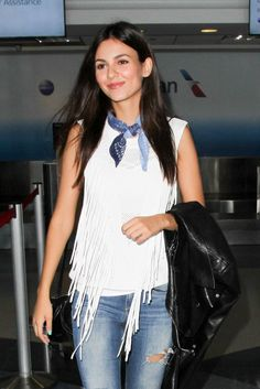VICTORIA JUSTICE at LAX Airport in Los Angeles 07/13/2016