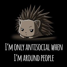 Antisocial - This t-shirt is only available at TeeTurtle! Exclusive graphic designs on super soft 100% cotton tees.
