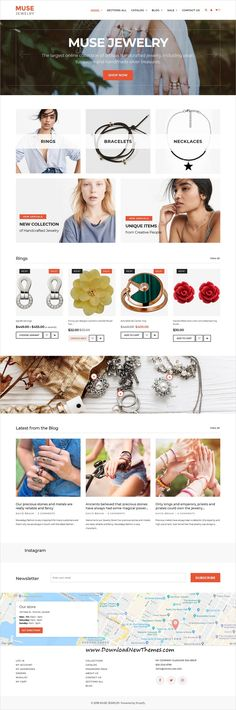 Muse is clean, stylish and modern design 4in1 responsive #Shopify theme for stunning #jewelry, fashion #store eCommerce #website to download & live preview click on image or Visit 👆