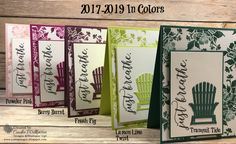 2017-2019 In Color Cards Using the Seasonal Layers Framelits – Just Sponge It! New 2017-2019 In Colors by Stampin' Up! Colorful Seasons, Seasonal Layers Framelits, DIY, Stampin' Up! All Occasions
