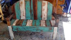 rustic reclaimed pallet bench by upCycledreCreations on