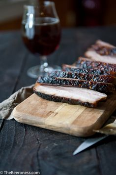 Stout Brined Crispy Chili Brown Sugar Pork Belly  The Beeroness Pork Belly Recipes, Beer Recipes, Lamb Recipes, Slow Cooked Pork, Pork Meat, Pork Dishes, Seafood Dishes, Brine For Pork, Asian Pork