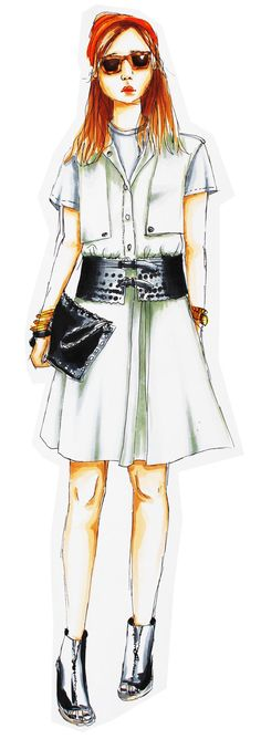 Fashion Illustration - Carola Koberstein Illustrationen  #modeillustration #fashionillustration #illustration #copicmarker #copic #copicciao #markerillustration #marker #ootd #outfitsketch #sketch