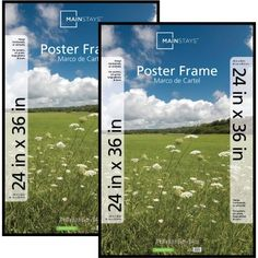 Free Shipping on orders over $35. Buy Mainstays 24x36 Basic Poster & Picture Frame, Black, Set of 2 at Walmart.com
