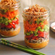 Asian Noodle Salad Jar1-001 by Foxes Love Lemons, via Flickr