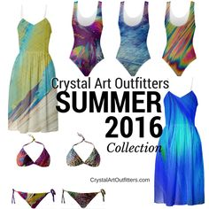 The Crystal Art Outfitters Summer 2016 Collection is here! All-new Summer Dresses and Swimsuits in stunning, summer-ready crystal prints now available at www.CrystalArtOutfitters.com!
