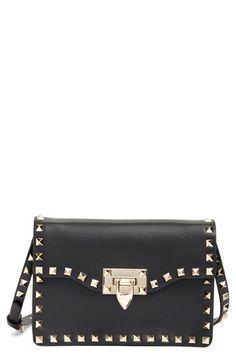 Valentino Valentino  Rockstud  Calfskin Leather Shoulder Bag available at   Nordstrom Valentino Purse fbd2e9b0c223d