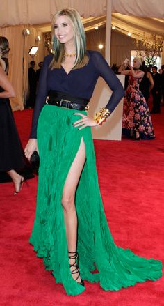 Ivanka Trump – green and blue with gold accents