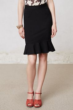 Ruffled Ponte Pencil Skirt #anthropologie