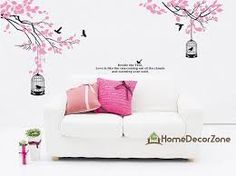 Image result for wall mural cherry blossom with cage