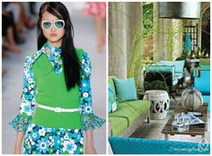 Fashion x decor: greenery pantone