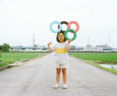 Japanese photographer documented his daughter in imaginative series of photographs - by Toyokazu