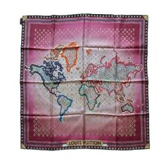 louis vuitton scarf map from a collection of rare vintage scarves at https