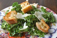 Kale Caesar Salad   entertaining by the bay #recipe