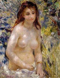 Pierre-Auguste Renoir - Study of a female semi-nude in the sunligh