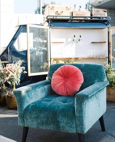Bring a modern, mid-century touch to your event with this velvet eye-catching beauty. (Sofa available in same color) Tub Chair, Accent Chairs, Mid Century, Velvet, Sofa, Touch, Eye, Modern, Color