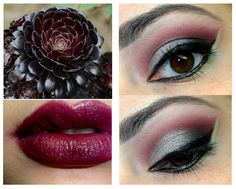 Silver, Black, Maroon and Lime Green with Cut Crease