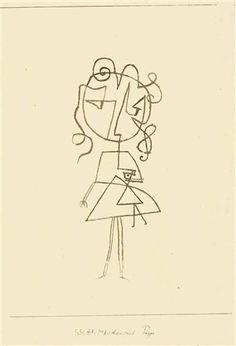 1930 Girl with a Doll by Paul Klee
