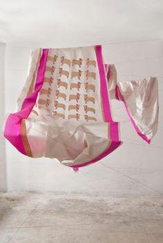 cow print silk sari from raw mango