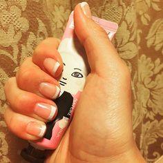 人生で初めてのセルフジェルネイル〜〜ハマりそう😂 #セルフネイル フレンチネイル #selfnail #frenchnails #gelnails #instanails #exo #kai #エクソのカイ