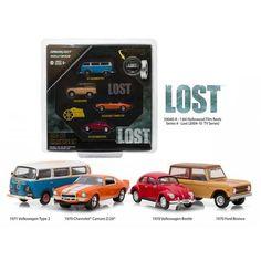 "Hollywood Film Reels Series 4 ""Lost"" (2004-2010) TV Series 4 Cars Set 1/64 Diecast Model Cars by Greenlight"