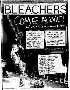Bleachers tour poster for winter/spring 2015