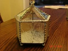 Stained Glass Beveled Showcase Box by twillobee on Etsy