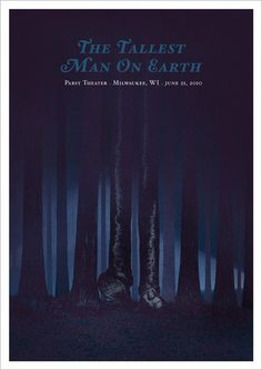 The Tallest Man On Earth gig poster by Rodrigo Maia