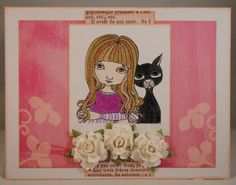 """Card for Queen Kat Designs using their """"Side by Side"""" stamp from the Francis Mary & Cornelius series"""